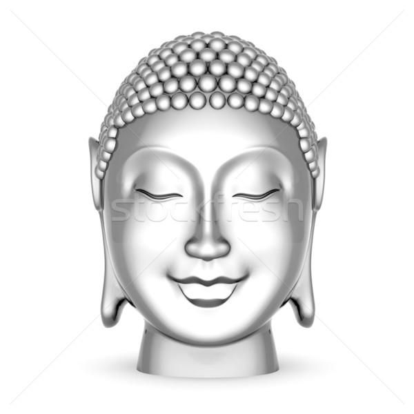 Gümüş heykel Buda görüntü Asya Stok fotoğraf © mastergarry