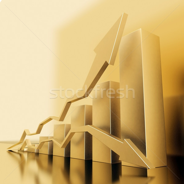 Stockfoto: Zakelijke · grafiek · groei · statistiek · carriere · ladder · business