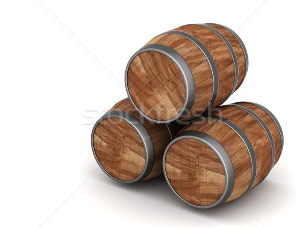 Stok fotoğraf: Ahşap · namlu · görüntü · eski · meşe · şarap