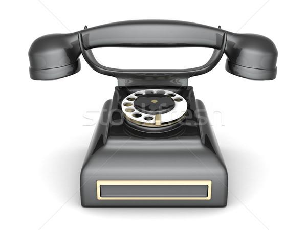 Velho telefone imagem belo branco negócio Foto stock © mastergarry