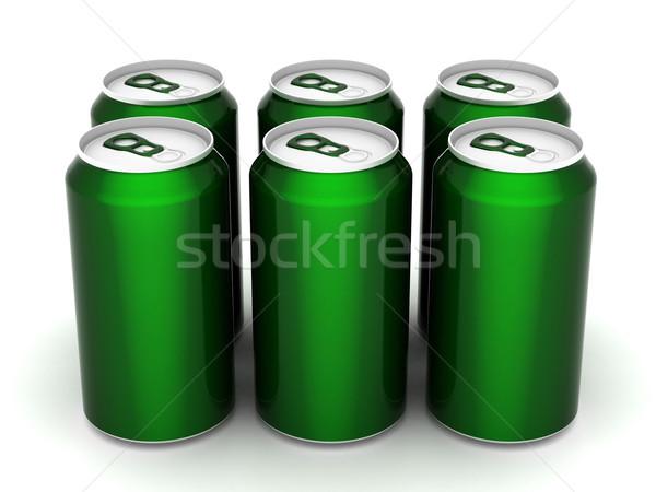 Aluminio pueden imagen beber diseno fondo Foto stock © mastergarry