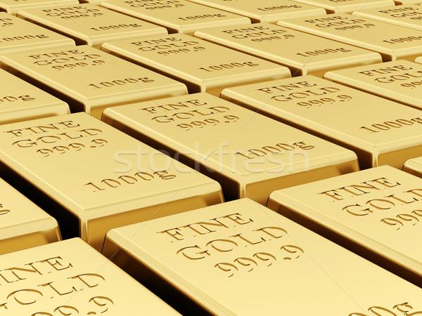 Branco metal financiar ouro mercado Foto stock © mastergarry