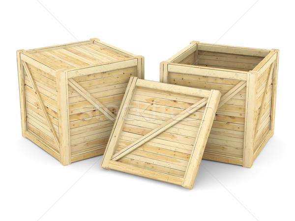 wooden crate Stock photo © mastergarry