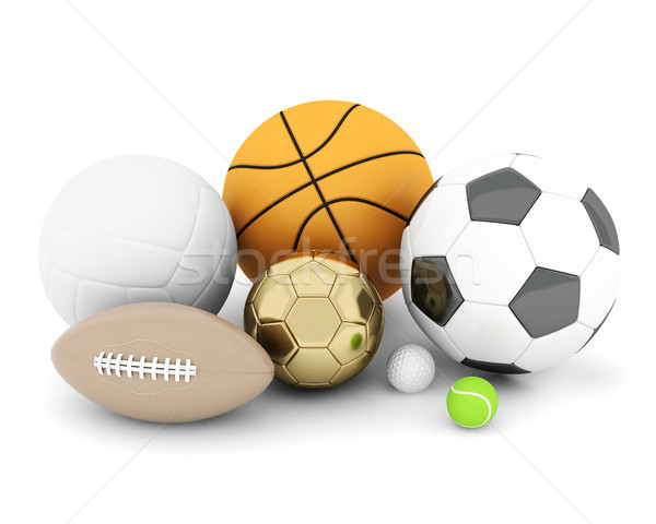 Deporte aislado blanco golf baloncesto Foto stock © mastergarry