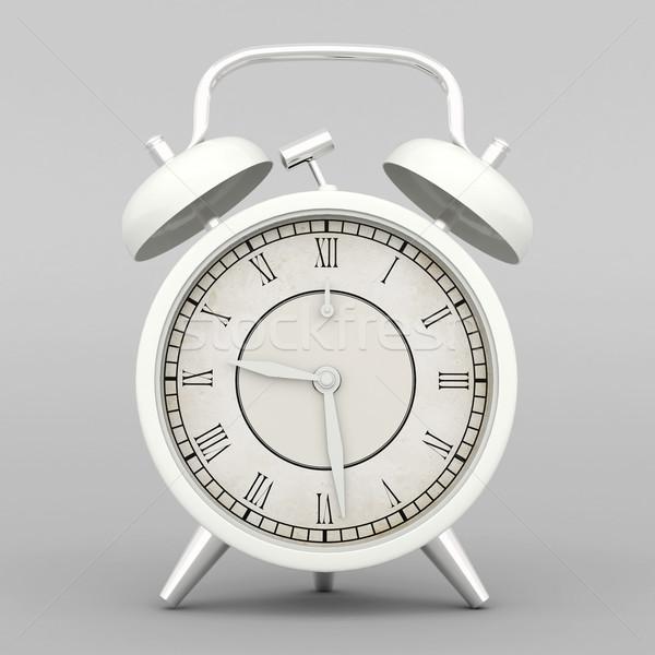 Belo despertador cinza metal preto retro Foto stock © mastergarry