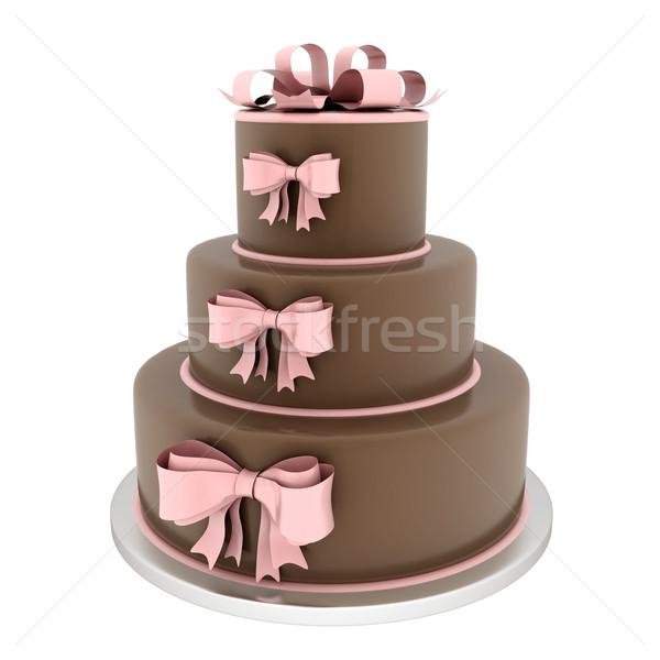 Bella wedding cake bianco wedding compleanno matrimonio Foto d'archivio © mastergarry