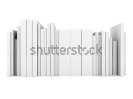 Traçado livros isolado branco papel livro Foto stock © mastergarry