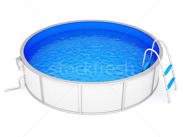 Piscina água branco projeto verão estância termal Foto stock © mastergarry