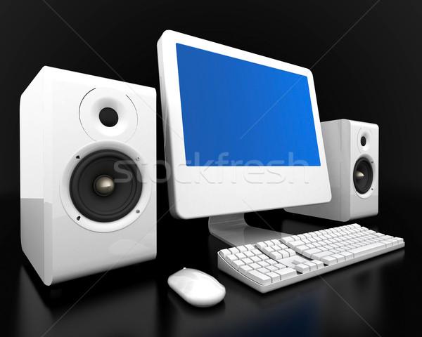 Görüntü bilgisayar teknoloji beyaz yalıtılmış Internet Stok fotoğraf © mastergarry