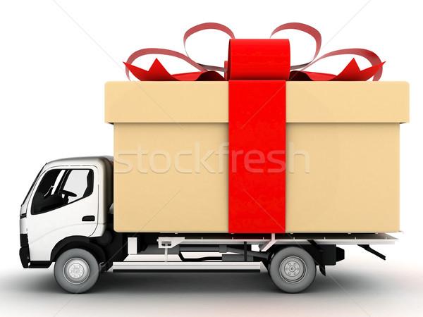 Auto levering afbeelding voertuig witte ontwerp Stockfoto © mastergarry