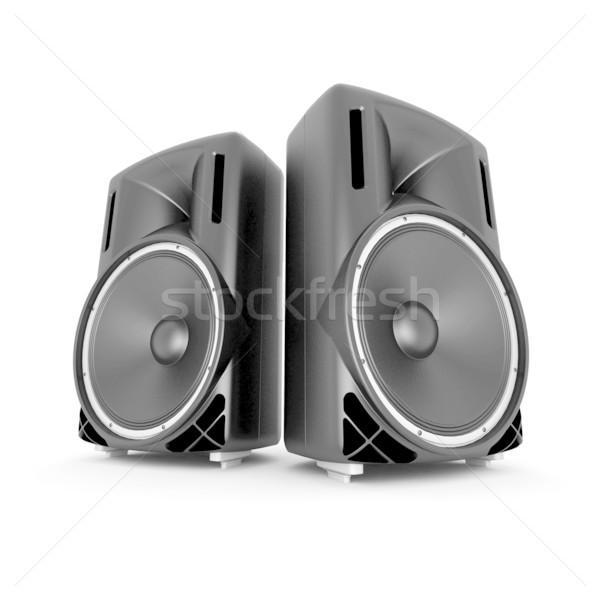 Música alto-falantes alto-falante isolado branco Foto stock © mastergarry
