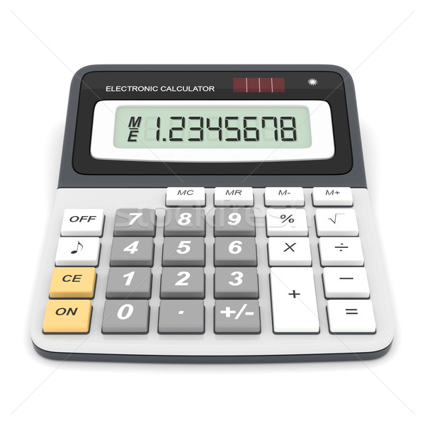 Moderna oficina calculadora blanco fondo financiar Foto stock © mastergarry