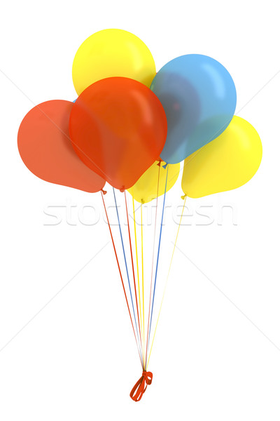 Joyeux anniversaire ballons aéré coloré belle Photo stock © mastergarry