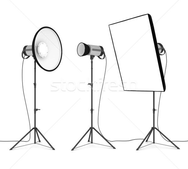 Estúdio flash isolado branco moda luz Foto stock © mastergarry