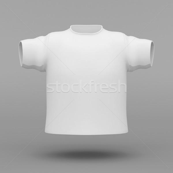 美しい 白 Tシャツ グレー ボディ デザイン ストックフォト © mastergarry