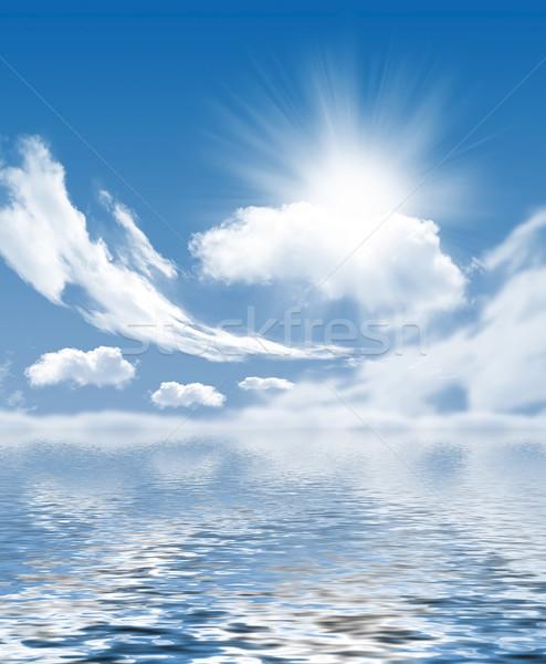 Foto wolken zon landschap Stockfoto © mastergarry