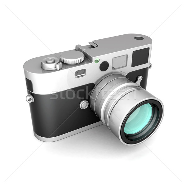Vintage digitale camera witte Stockfoto © mastergarry