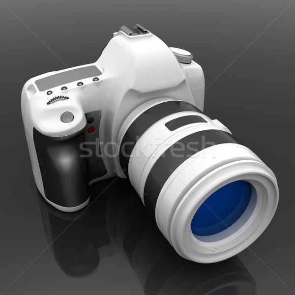 Digitális fényképezőgép kép fehér technológia fekete fotó Stock fotó © mastergarry