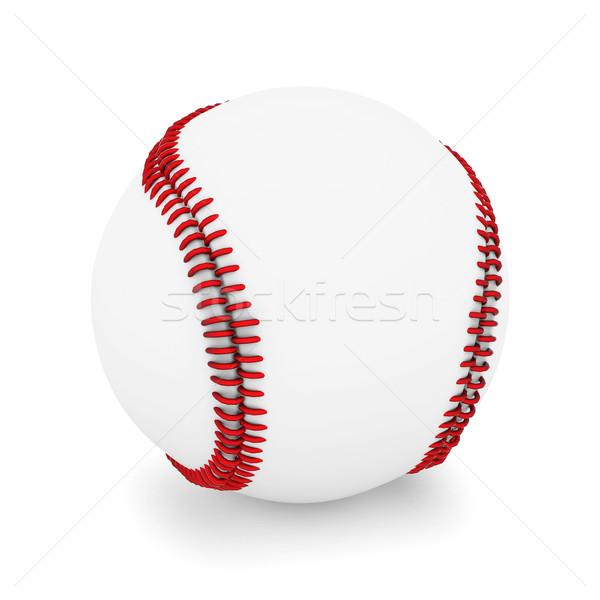 Beisebol bola isolado branco esportes campo Foto stock © mastergarry