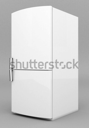 Hermosa refrigerador Foto gris negro blanco Foto stock © mastergarry