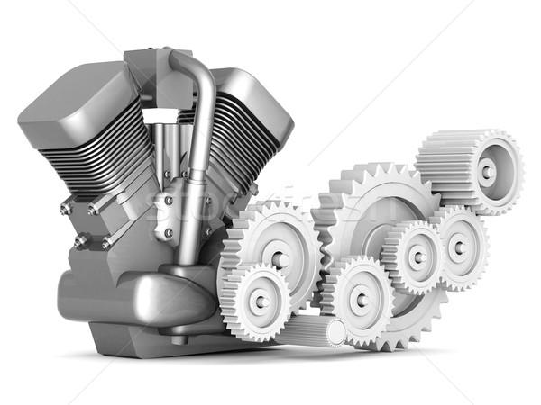 Motocicleta motor branco acelerar poder transporte Foto stock © mastergarry