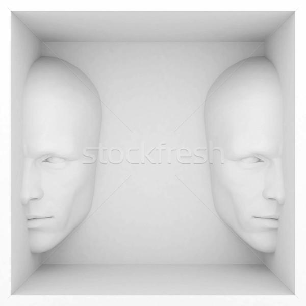 Abstract stile presentazione occhi design testa Foto d'archivio © mastergarry