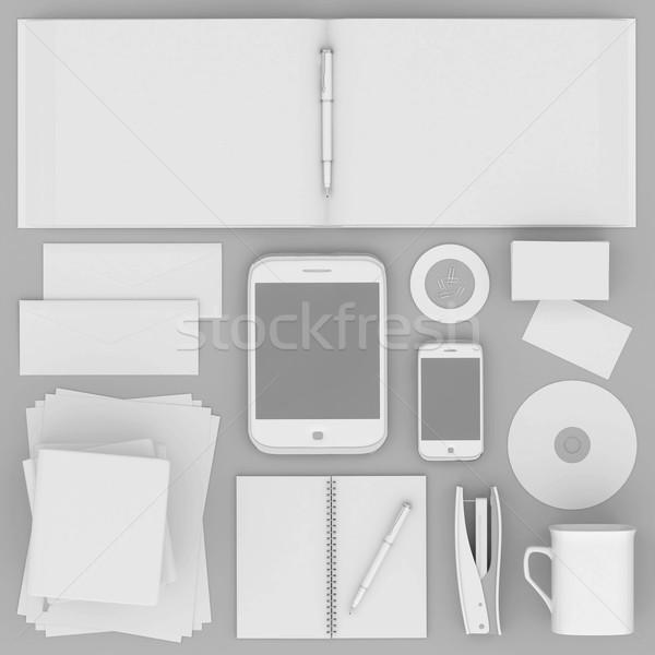Corporativo identidade modelo cinza papel livro Foto stock © mastergarry