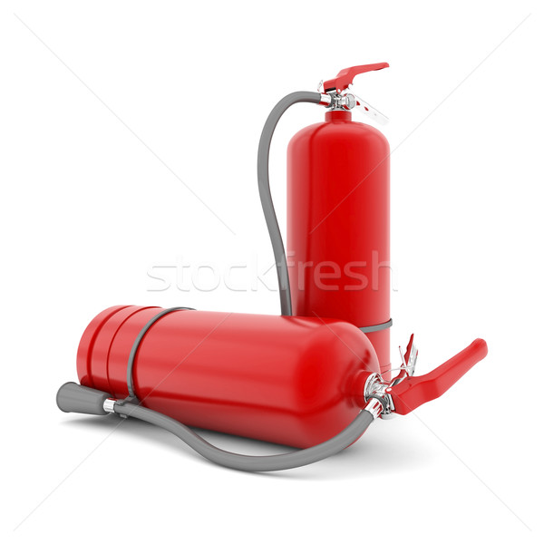 red fire extinguisher Stock photo © mastergarry