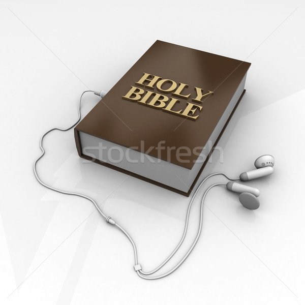 Bible photo croix bois brun Photo stock © mastergarry