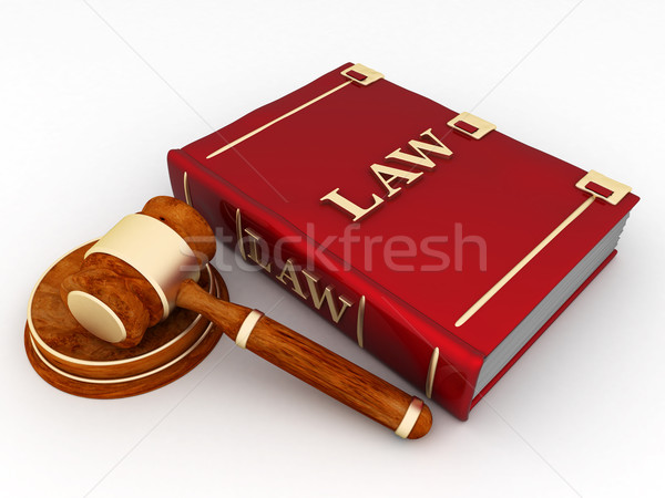 Bírói gyönyörű kép könyv igazság siker Stock fotó © mastergarry