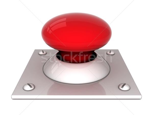 Imagem vermelho botão branco fogo chave Foto stock © mastergarry