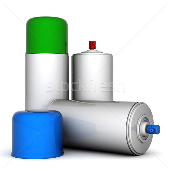 Alüminyum sprey görüntü boya beyaz dizayn Stok fotoğraf © mastergarry