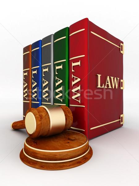 ストックフォト: 司法の · 美しい · 画像 · 図書 · 正義 · 成功