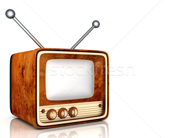 old TV Stock photo © mastergarry