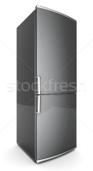 Belo geladeira quadro branco preto caminho Foto stock © mastergarry