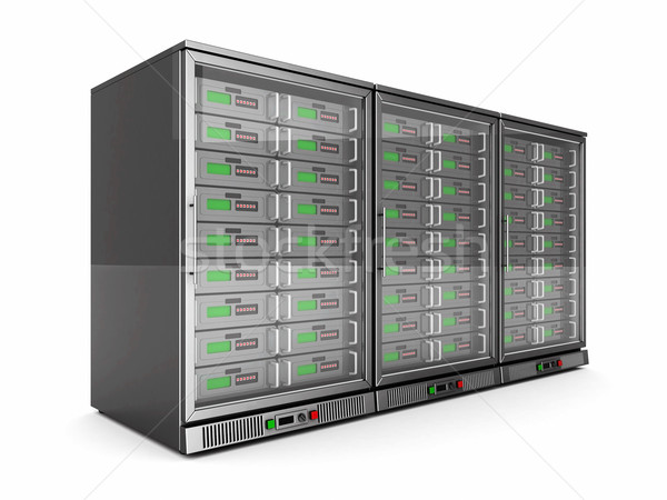 Rete server isolato bianco computer tecnologia Foto d'archivio © mastergarry