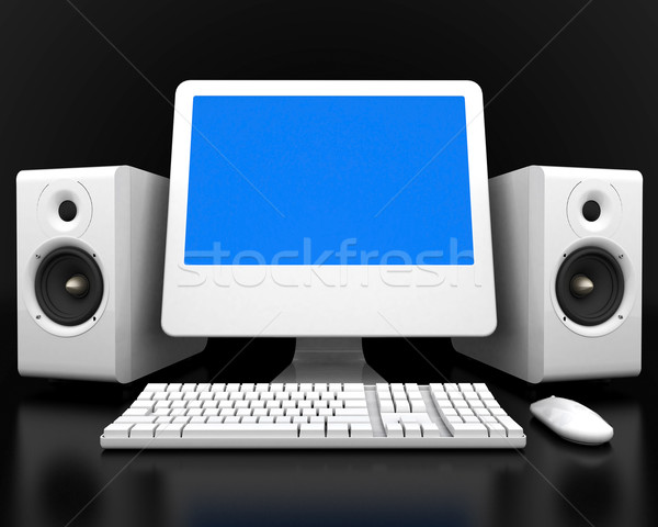 The image of computer Stock photo © mastergarry
