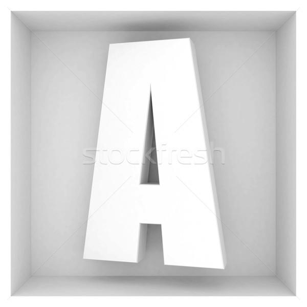 Volume lettera alfabeto grigio abstract design Foto d'archivio © mastergarry
