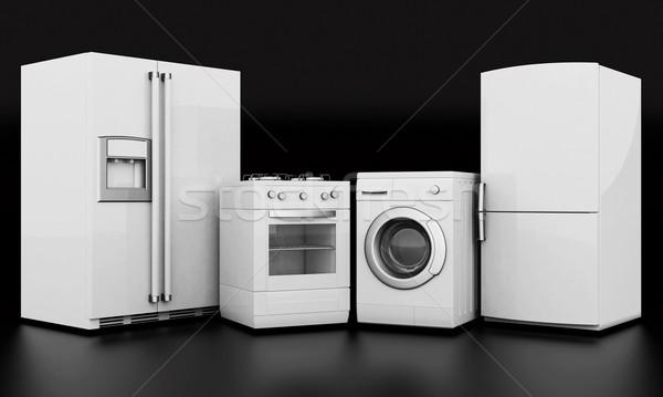 Domestique appareils photos noir maison déjeuner Photo stock © mastergarry