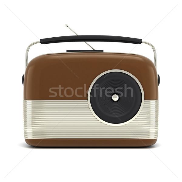 Retro rádio quadro branco música Foto stock © mastergarry