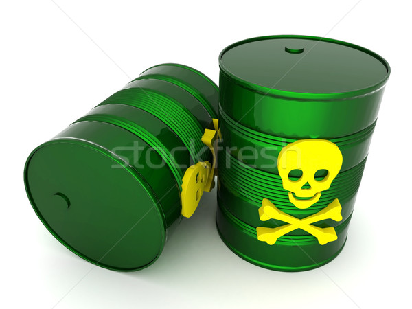 Toxic waste barrel Stock photo © mastergarry