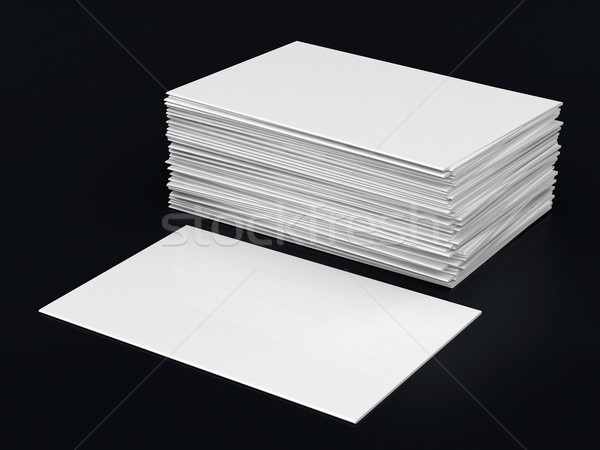 Business cards blank Stock photo © mastergarry