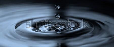 Gotas gotas de água água bolha Foto stock © mastergarry