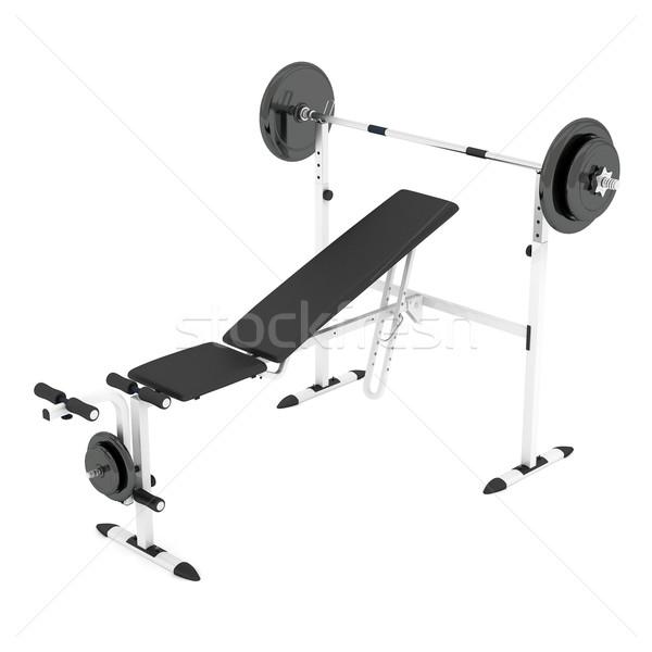 Halter bank beyaz spor sağlık makine Stok fotoğraf © mastergarry