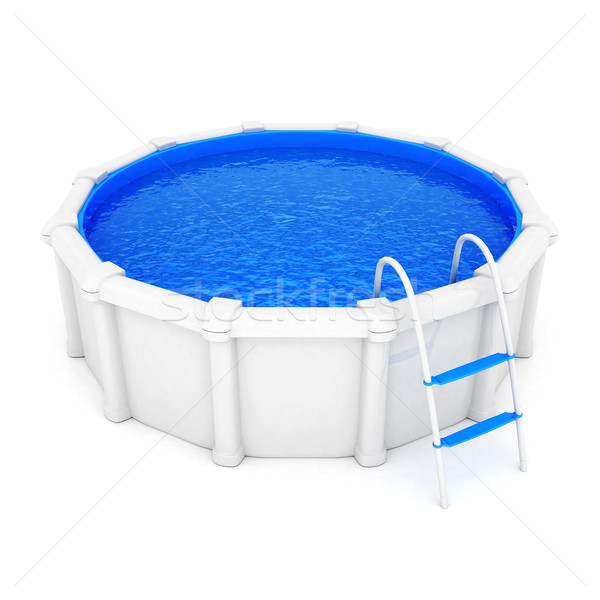 Foto stock: Piscina · água · branco · projeto · verão · estância · termal