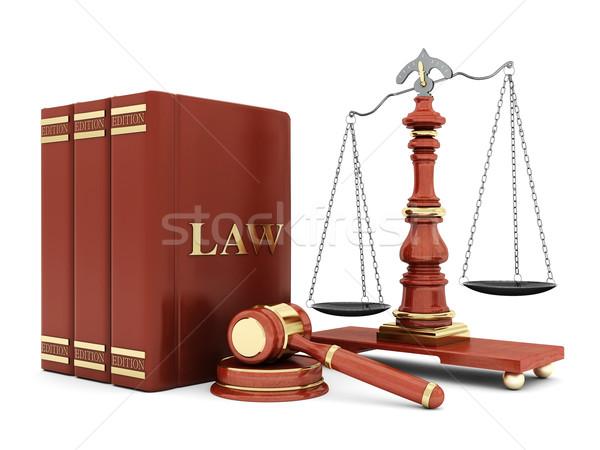 Stockfoto: Mooie · afbeelding · gerechtelijk · boek · justitie · advocaat