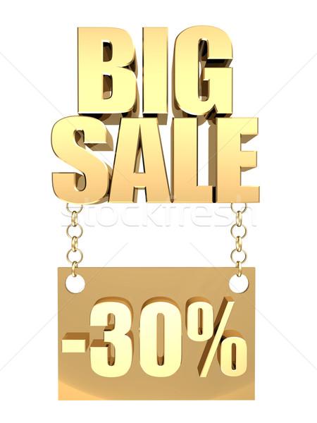 3D afbeelding tekst groot verkoop zuiver Stockfoto © mastergarry