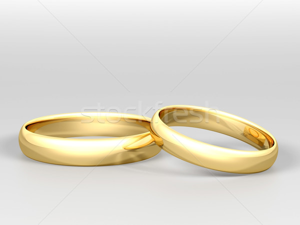 picture of wedding rings Stock photo © mastergarry