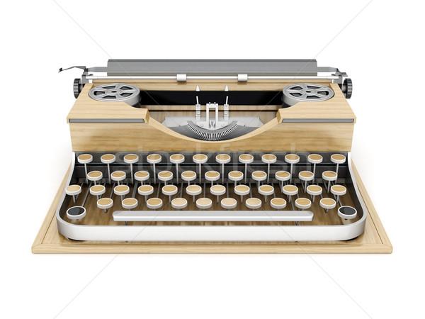 Vintage macchina da scrivere isolato bianco lavoro metal Foto d'archivio © mastergarry