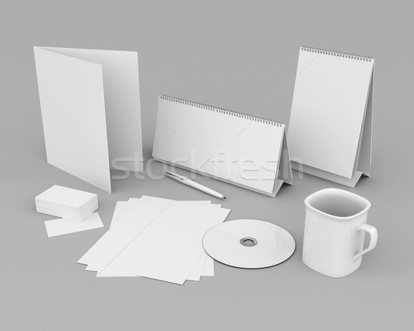 Corporate identity template Stock photo © mastergarry